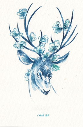 flower-stag-blue