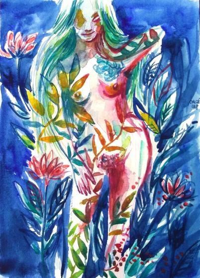 fertility blue woman